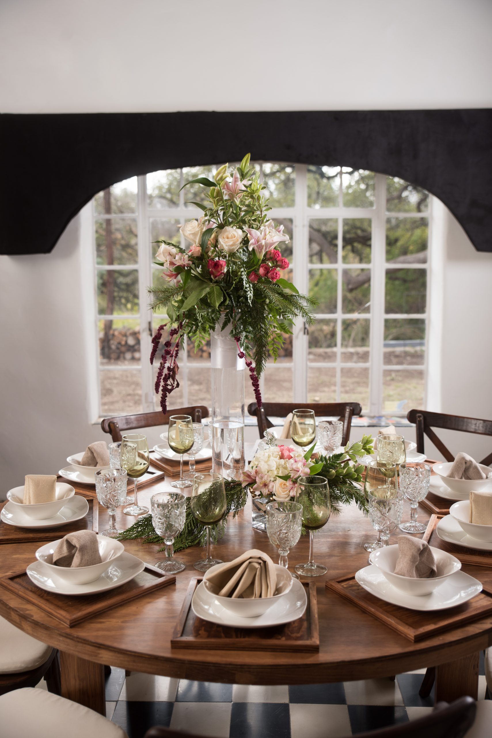 San Antonio wedding table setting at Tuscany venue