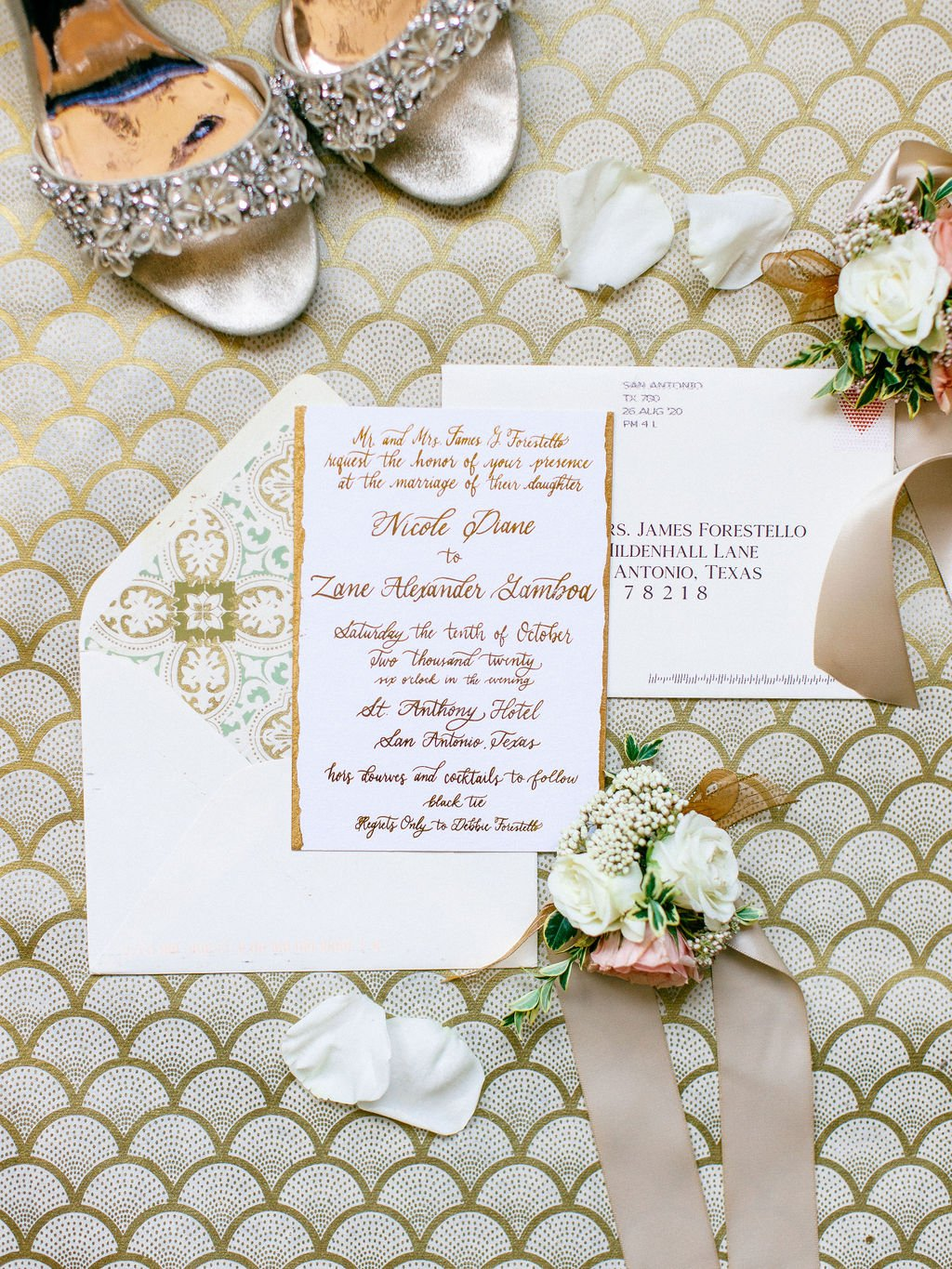 wed with grace San Antonio wedding stationary