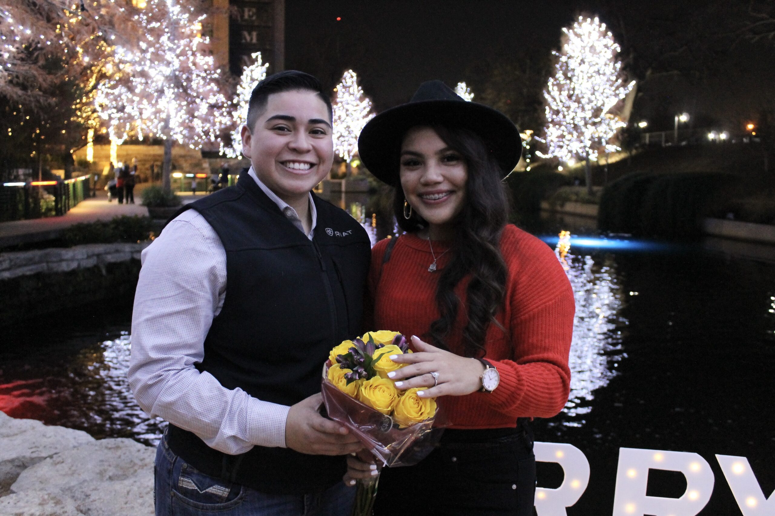 San Antonio Weddings couple, Caitlin and Sierra, get #engagedinsa