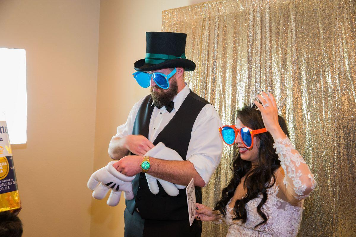 San Antonio wedding photo booth