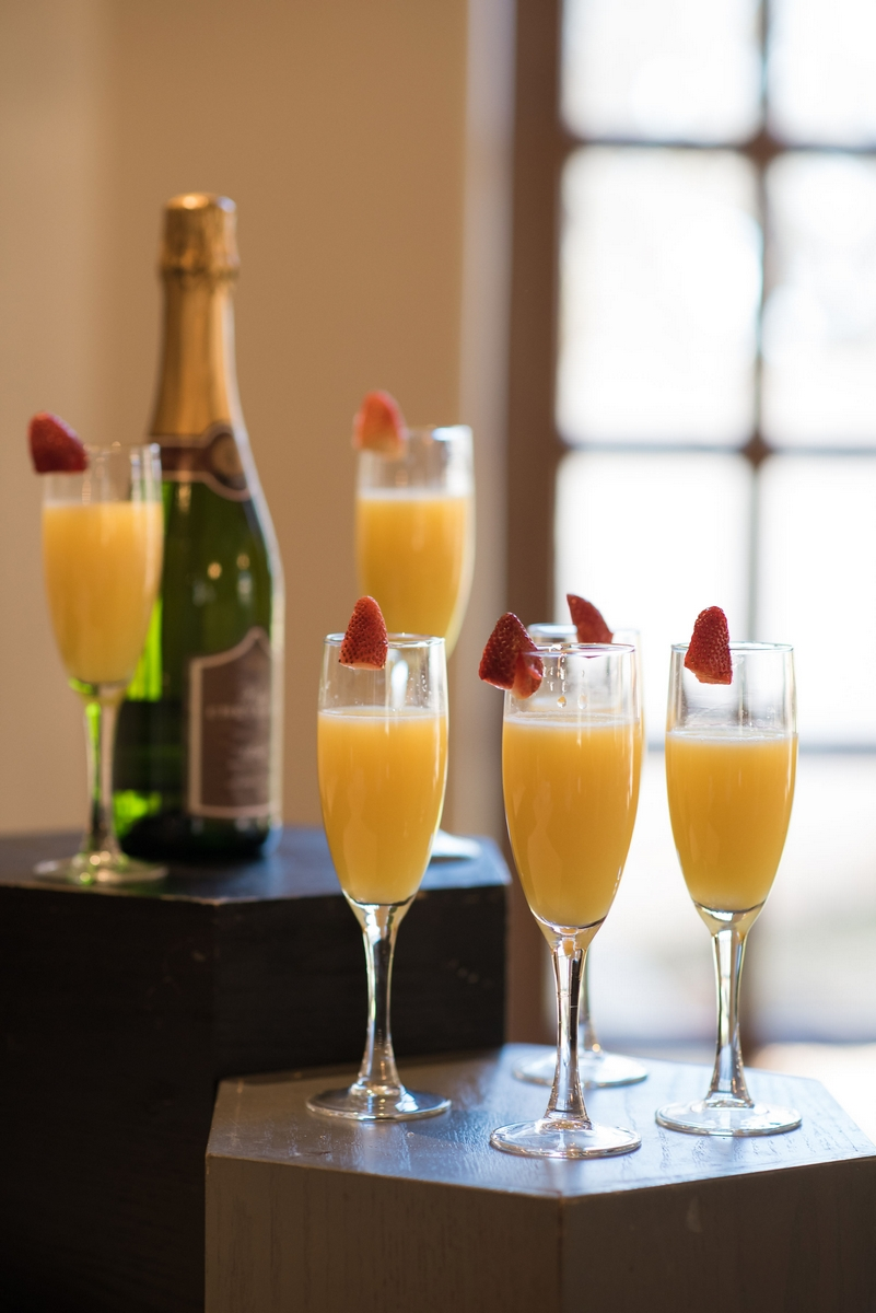 bridal shower mimosas at the dominion country club in San Antonio