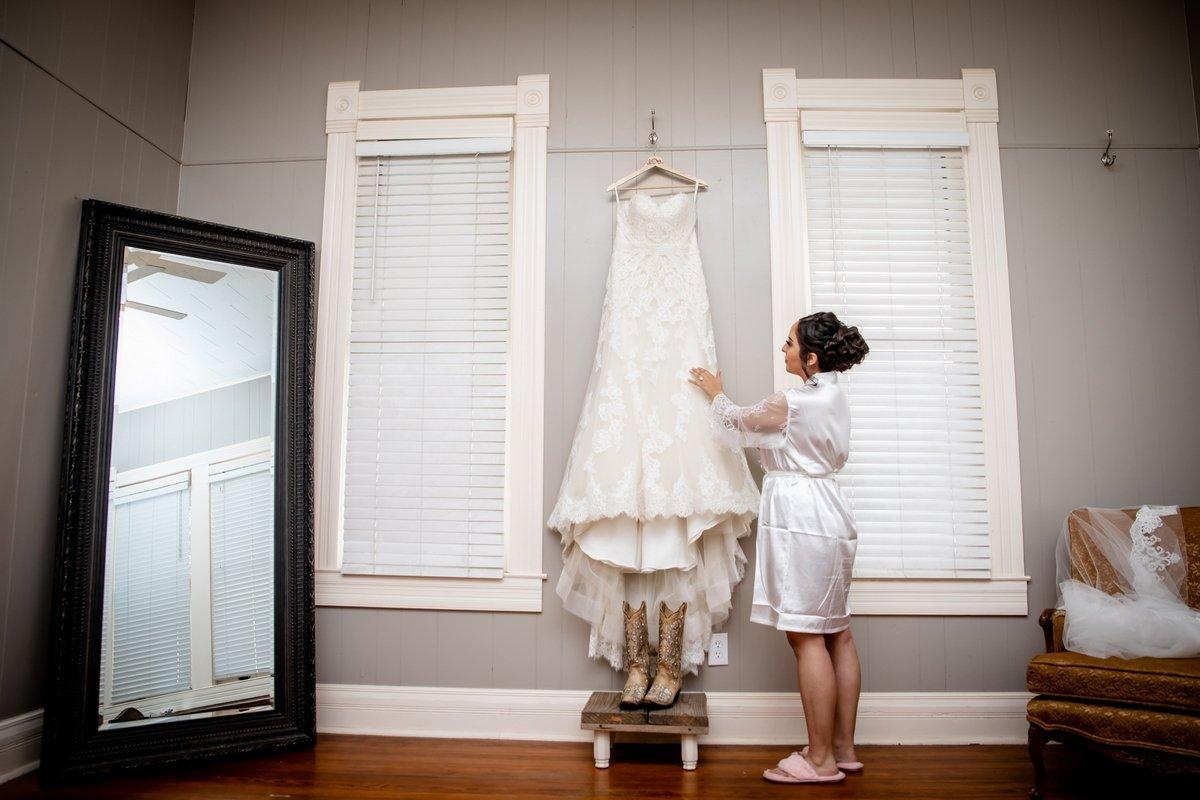 Bride and wedding dress
