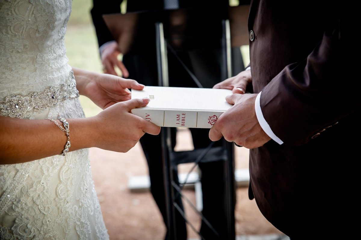 Bible in a wedding ceremony