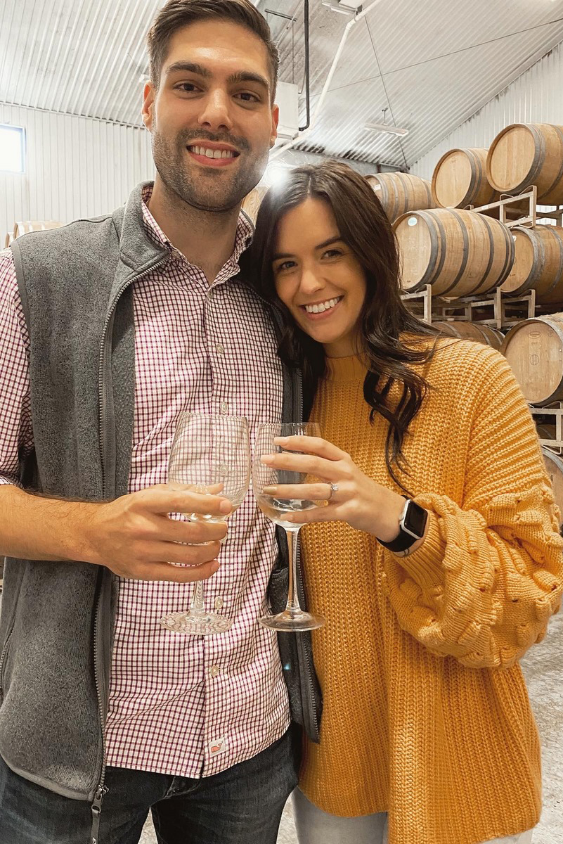 Cody and Samantha's surprise winery engagement in San Antonio
