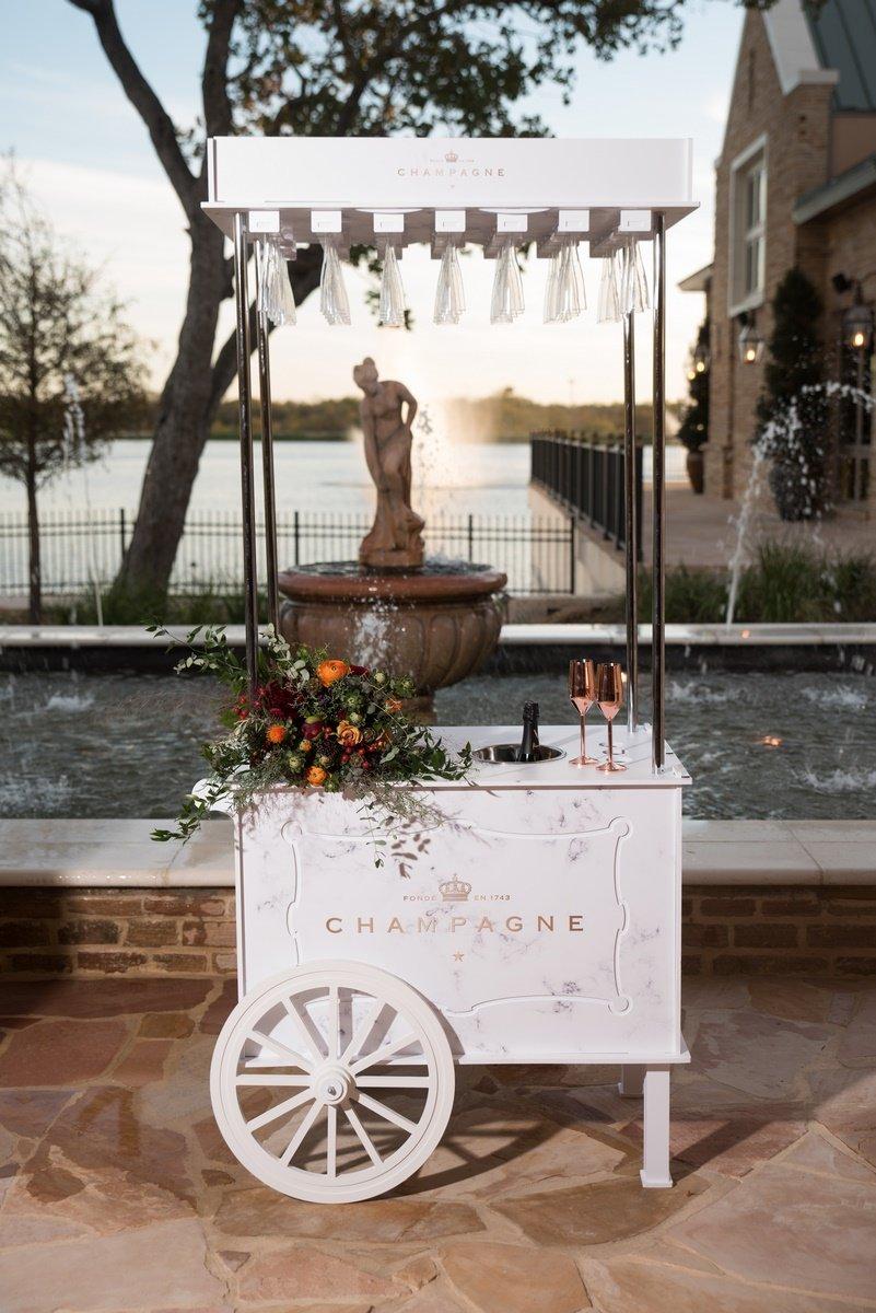 champagne cart San Antonio Weddings