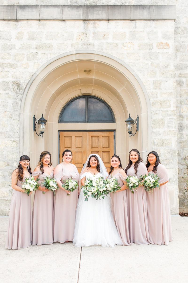 texas wedding bridal party San Antonio