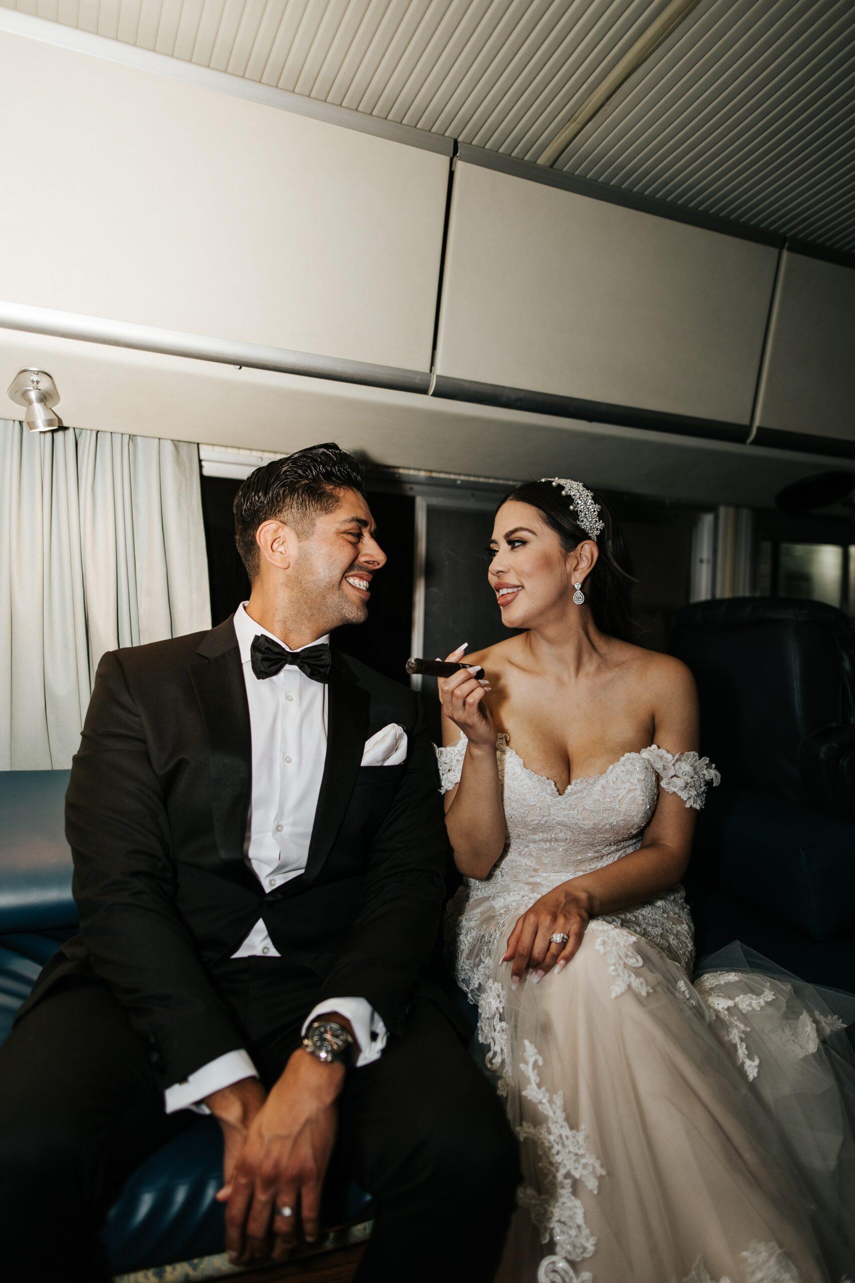 San Antonio Weddings couple, Alma and James, featuring At Last Entertainment