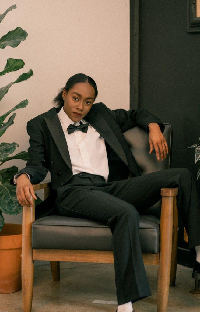 black female empowerment women's tuxedo from rex formal wear