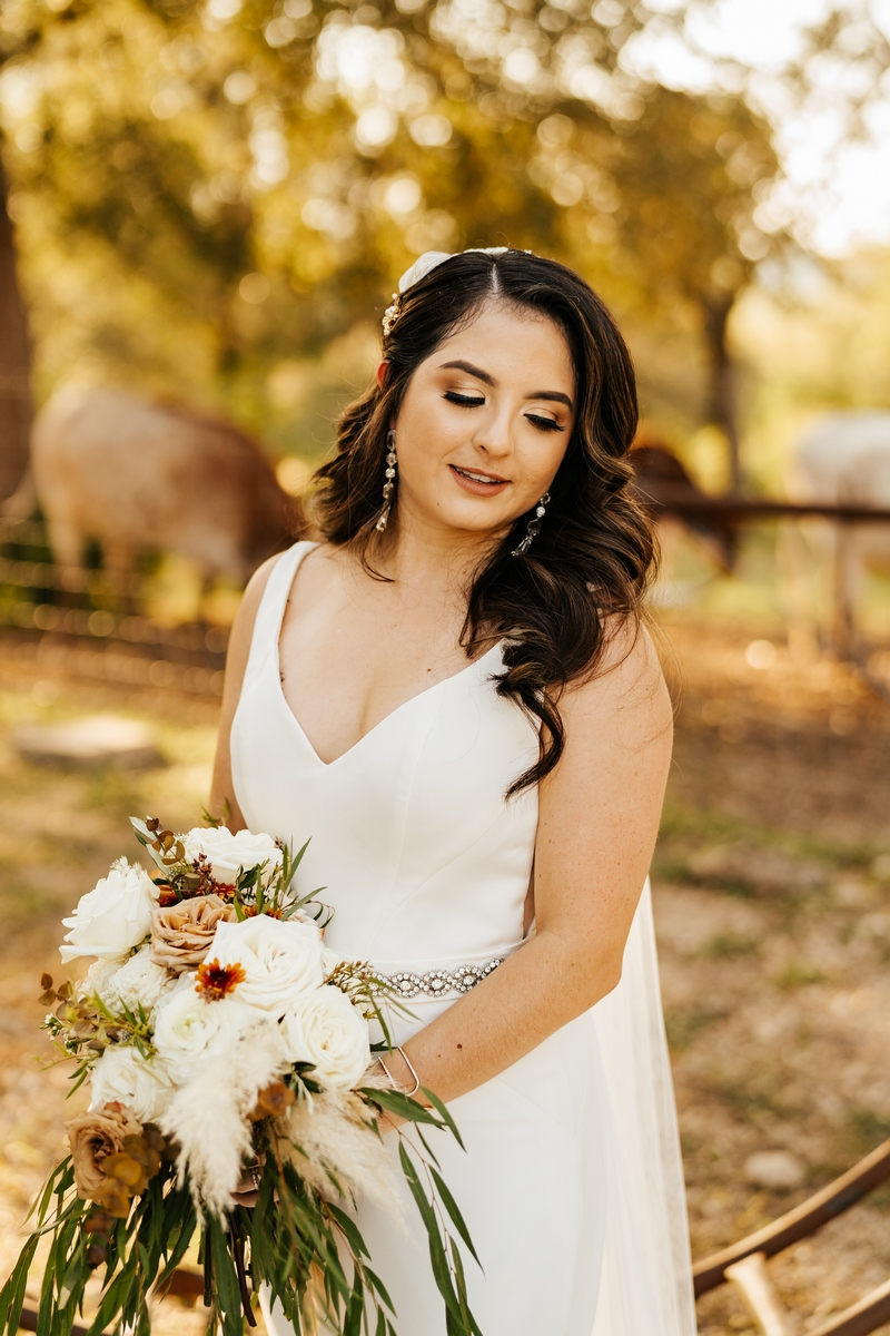 bridal portrait by Ashley medrano at Harper Hill Ranch