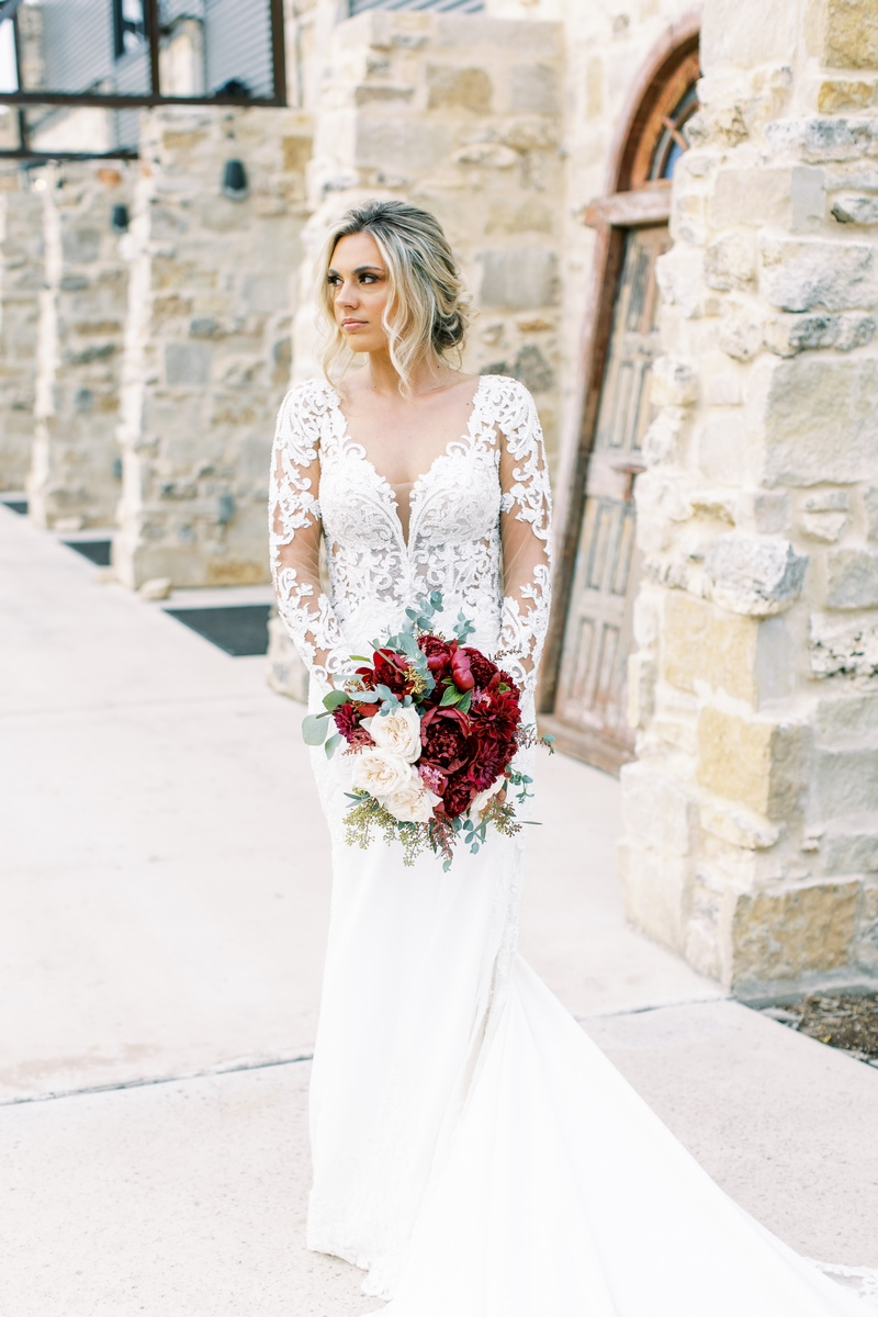 bride at park 31 in San Antonio