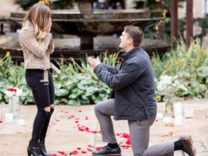 Caitlyn and johns surprise proposal photos by Hannah Charis