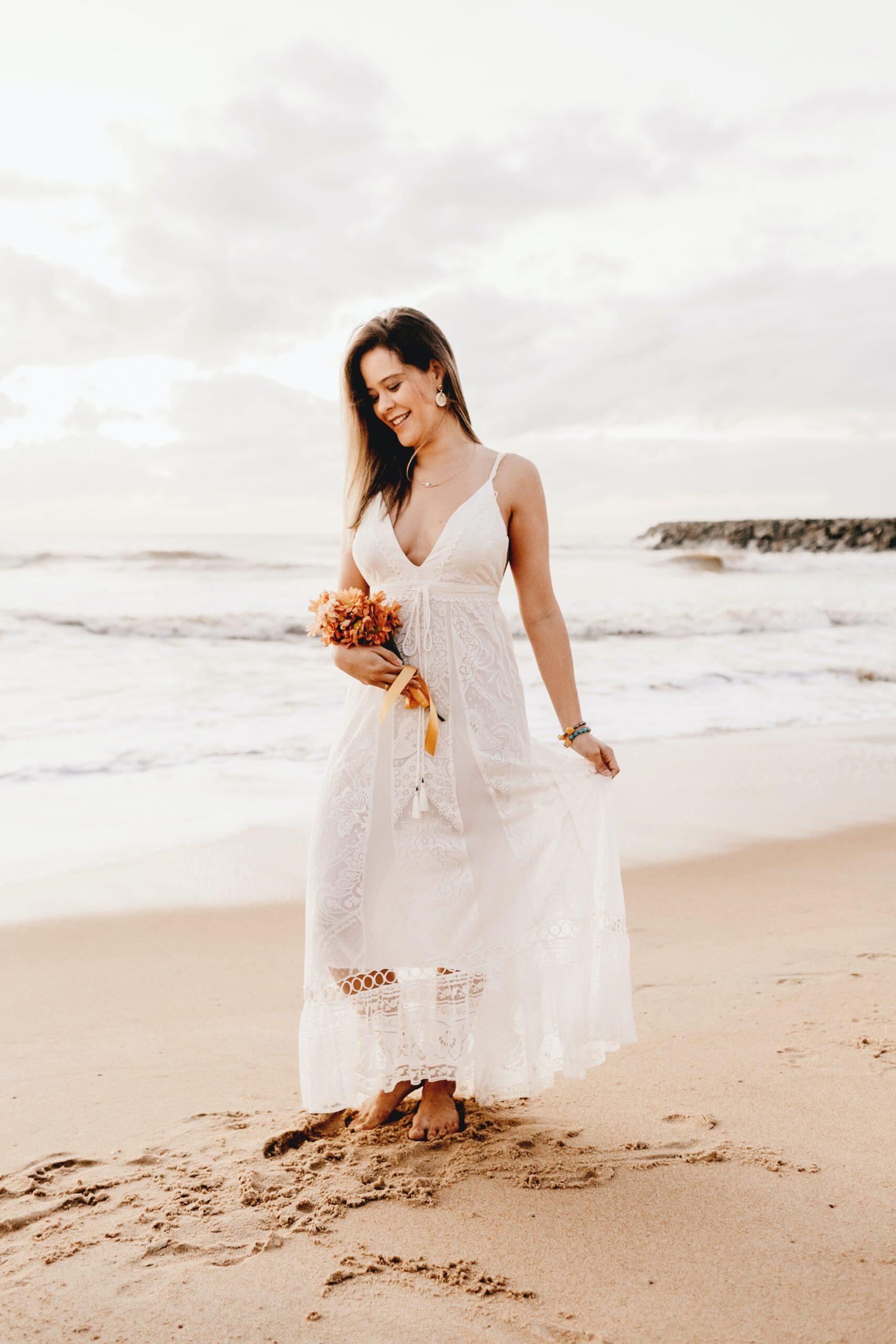 earth day bride San Antonio with no shoes