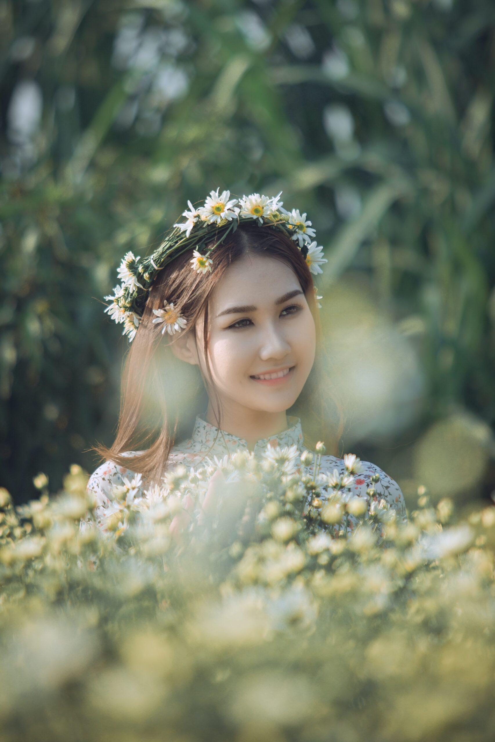San Antonio bride in flower crown