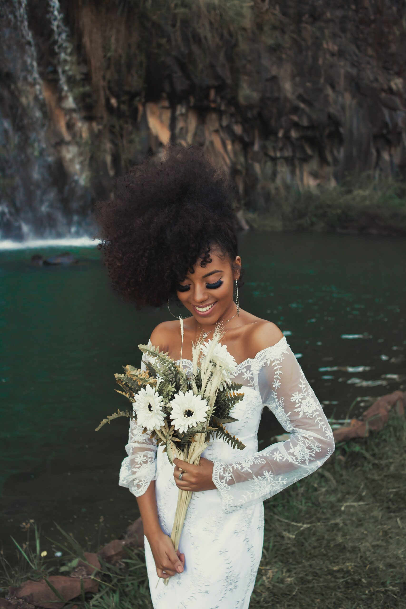 Lacey nature inspired wedding dress San Antonio
