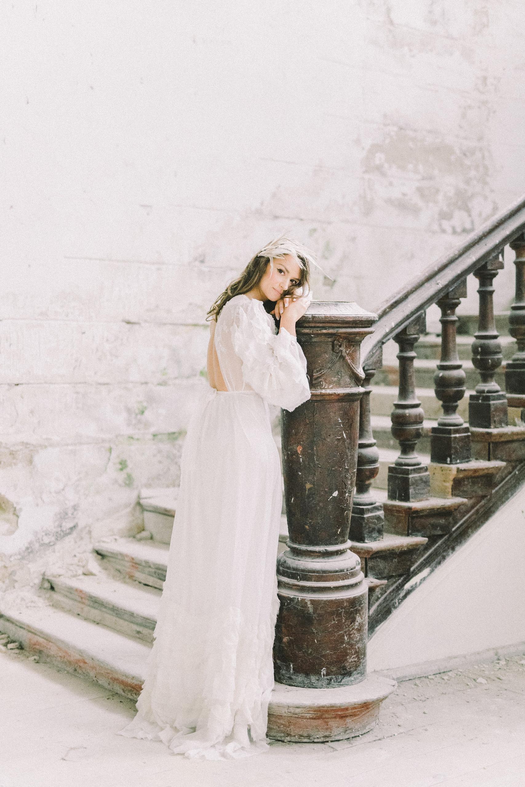 flow nature inspired wedding dress San Antonio