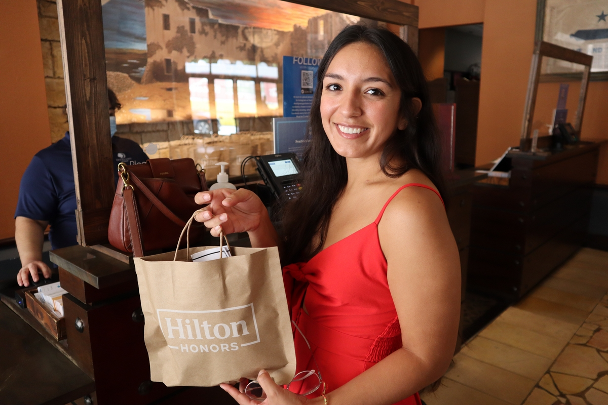 Emily Morgan Hotel Complimentary bag