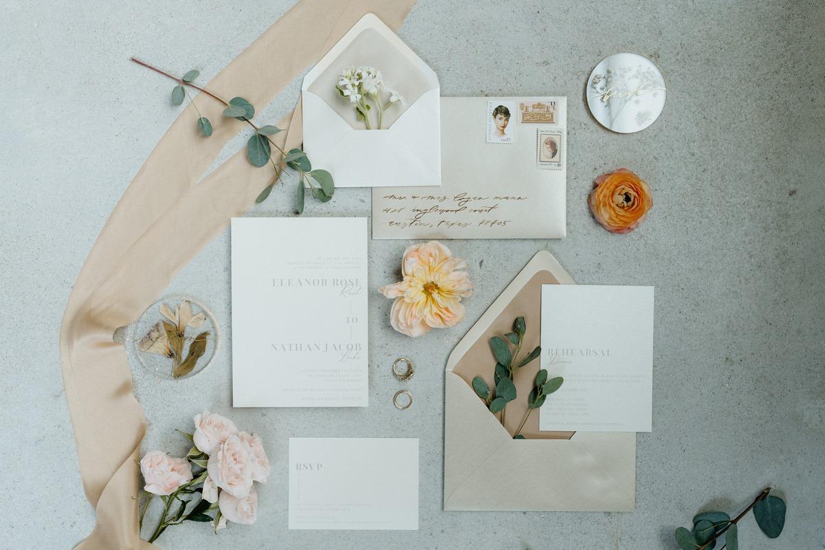 San Antonio wedding calligraphy and stationary