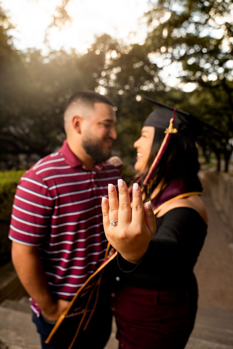 San Antonio Weddings couple, Brandon and Denise #EngagedinSA