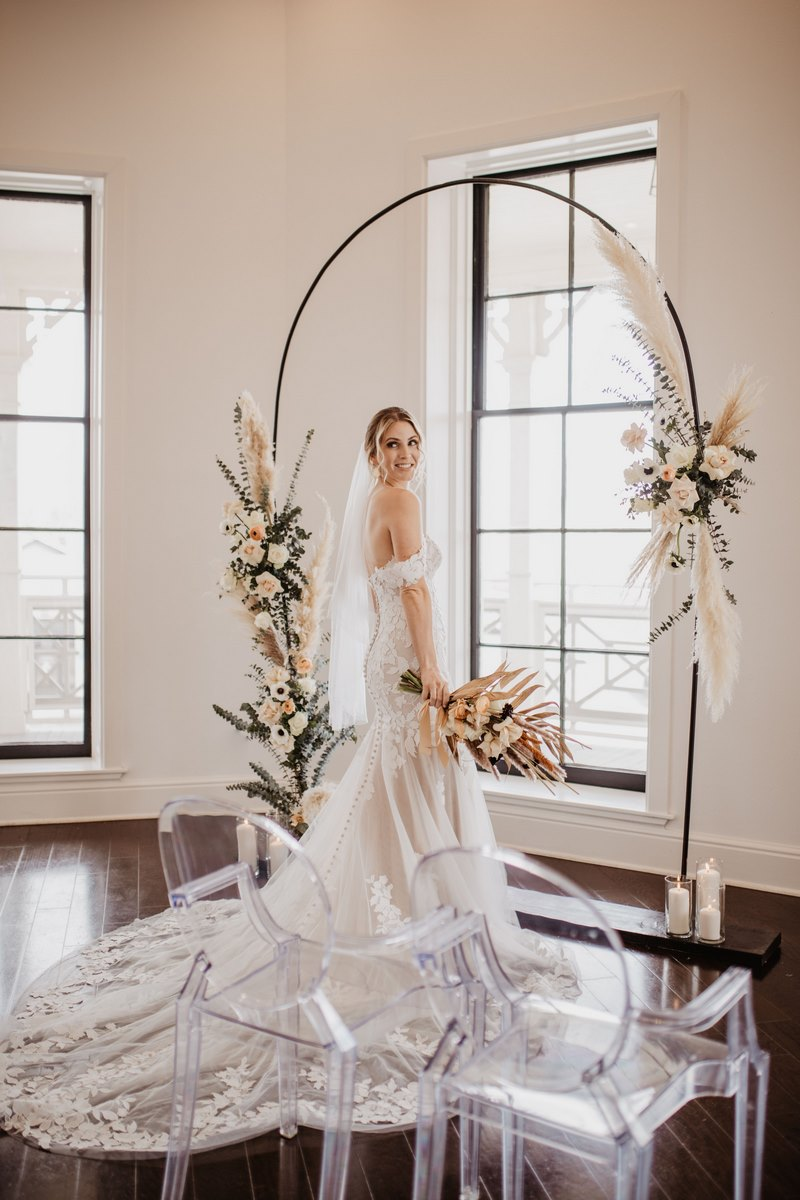 San Antonio Weddings Homestead Styled Shoot - Wedding Design and Rentals from Viridian Designs and Wild Caravan, Bridal Attire by Fiancee Bridal Boutique, and Hair/Makeup by Love Lipstick and Lashes