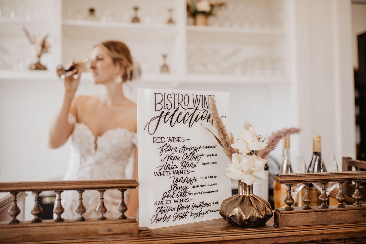 San Antonio Weddings Homestead Styled Shoot - custom bar sign by Lazy Creek Designs