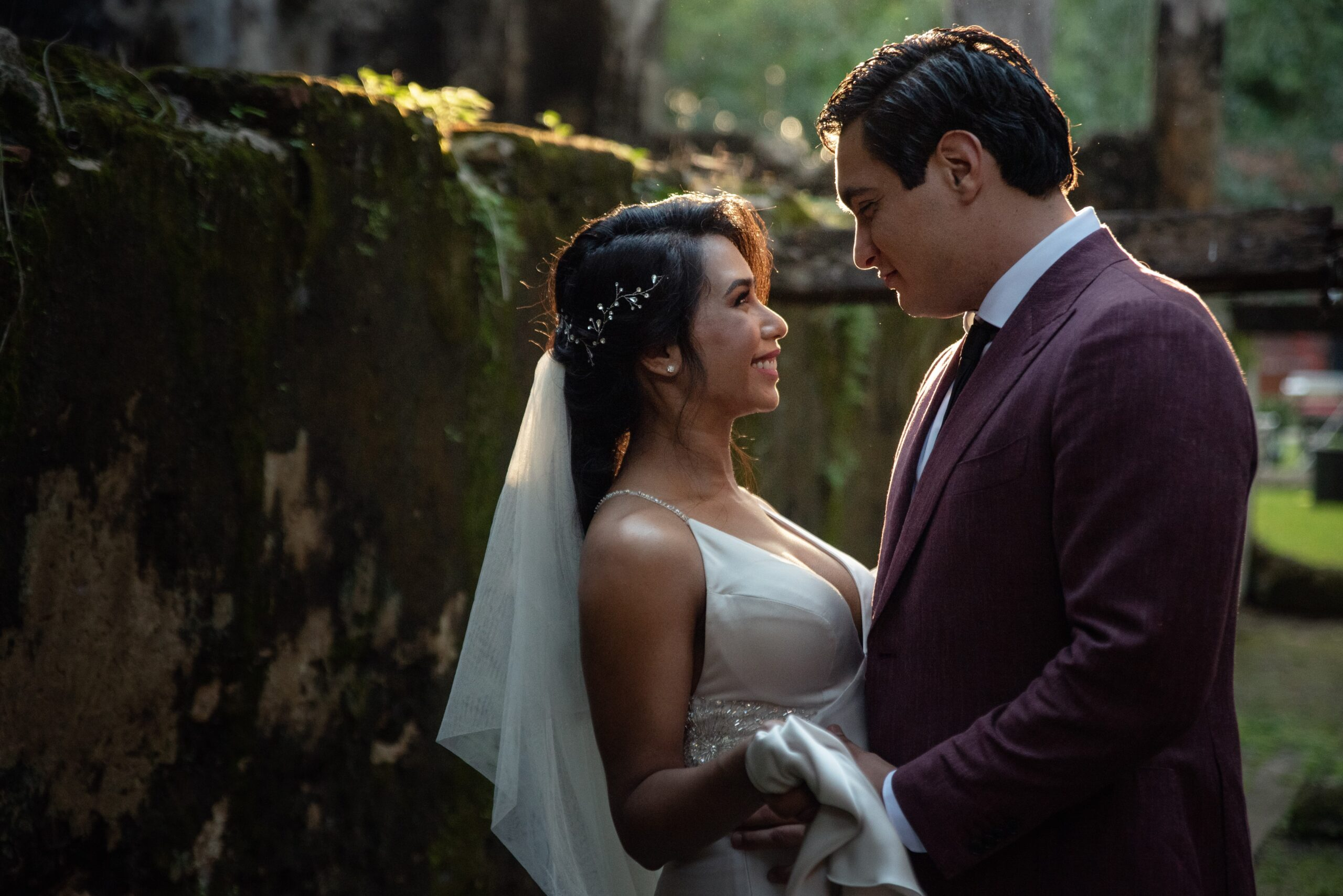 San Antonio Weddings couple, Raquel and Christian, destination wedding in the Mexican Jungle