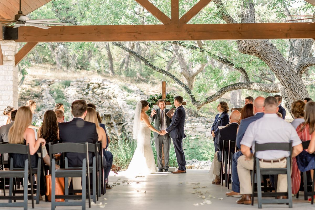 San Antonio Weddings couple telling our wedding story at Hayes Hollow