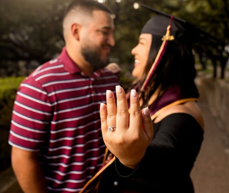 Brandon and Denise TXST Engagement