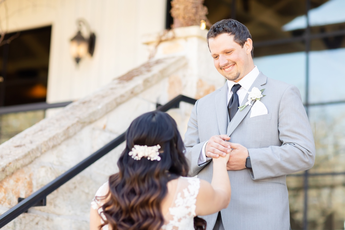 first look by Hannah Charis photography