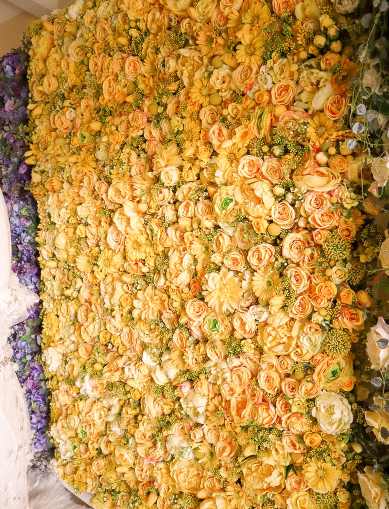 fun bright flower wall in san antonio tx
