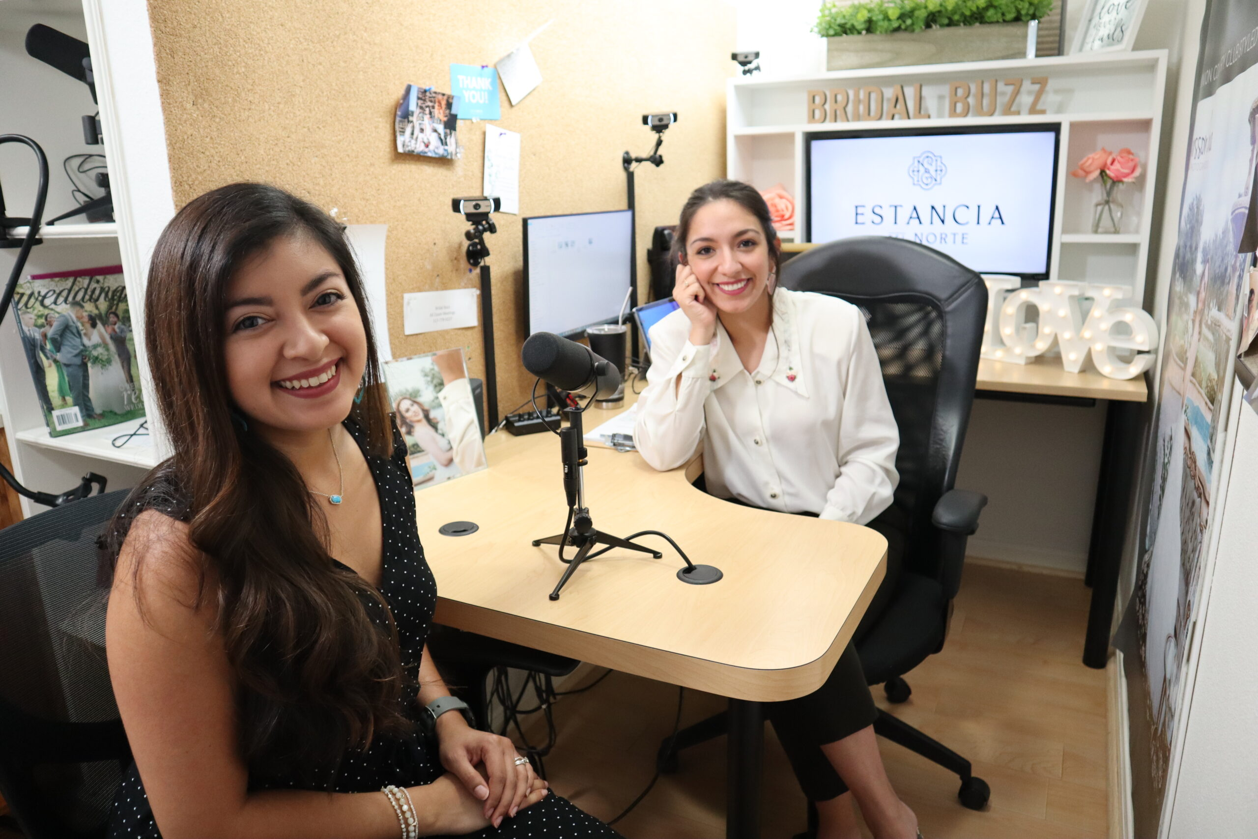 Erika from Bridal Buzz in the studioi with Priscilla Rodriguez of Modern Wellness
